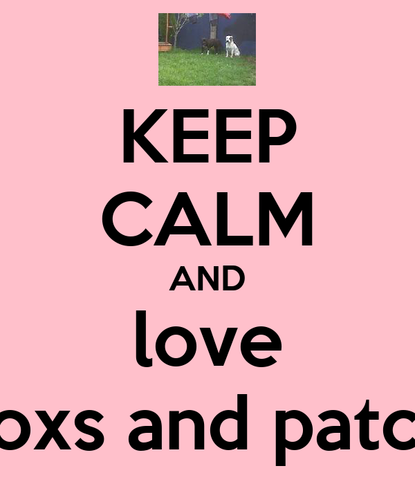 KEEP CALM AND love soxs and patch