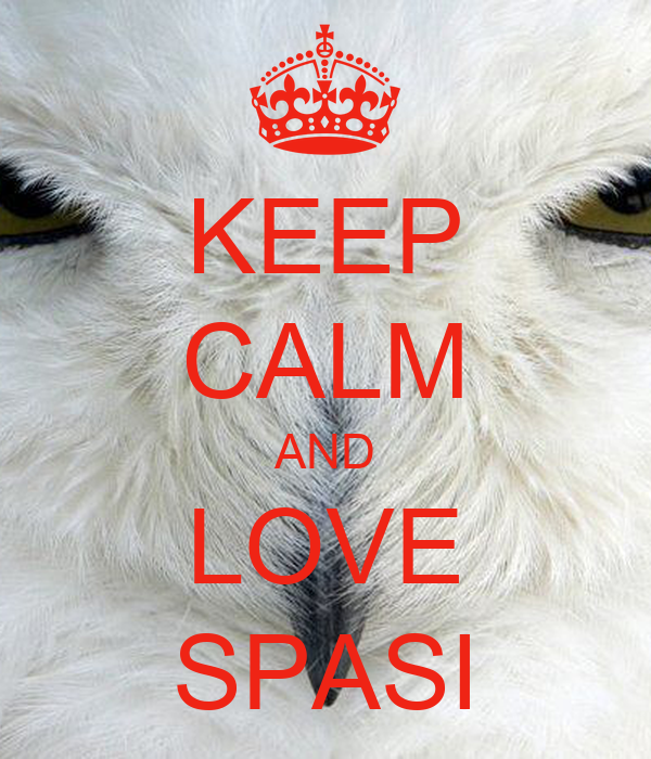KEEP CALM AND LOVE SPASI
