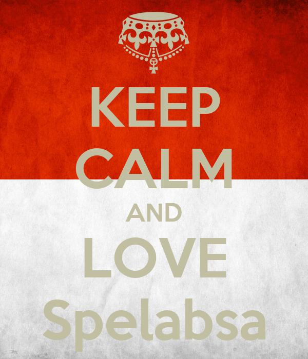 KEEP CALM AND LOVE Spelabsa