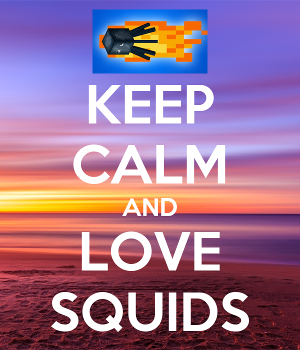 KEEP CALM AND LOVE SQUIDS