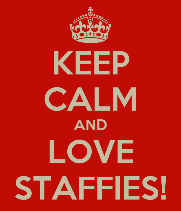KEEP CALM AND LOVE STAFFIES!