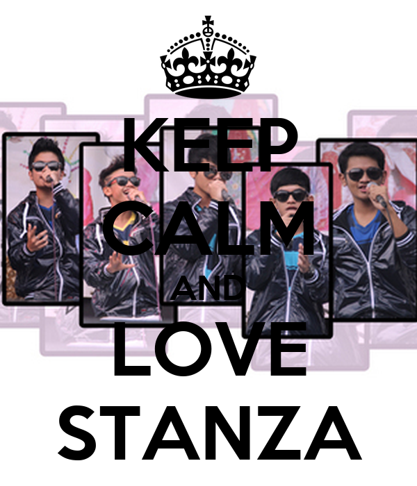 KEEP CALM AND LOVE STANZA