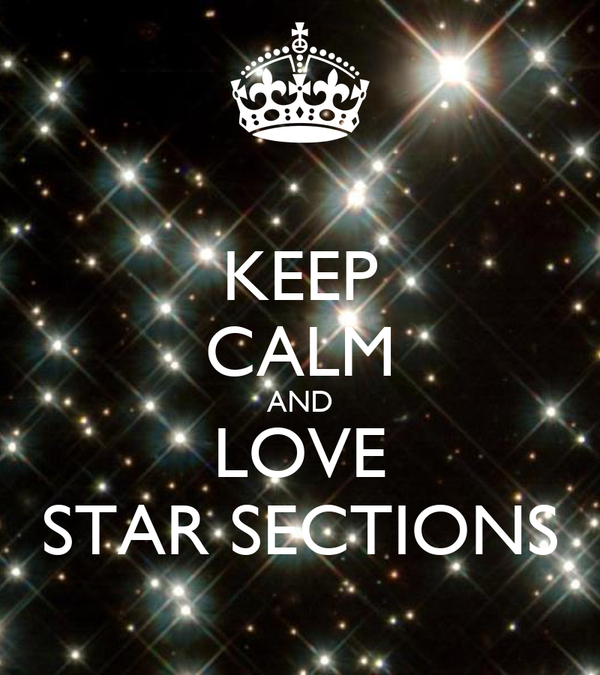 KEEP CALM AND LOVE STAR SECTIONS