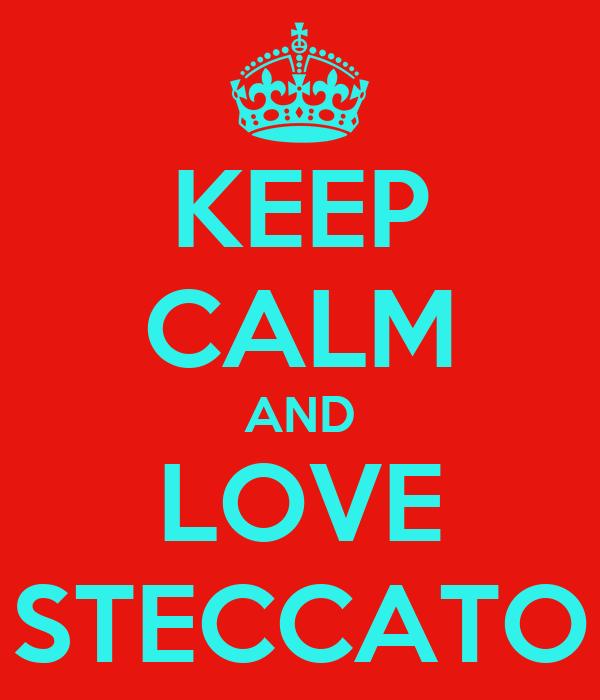 KEEP CALM AND LOVE STECCATO