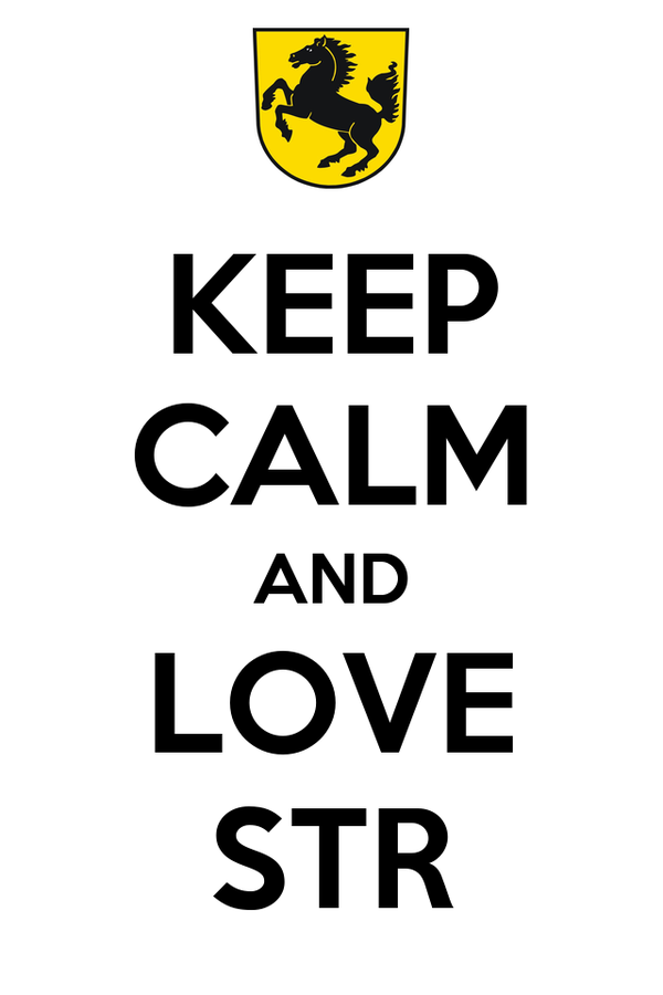 KEEP CALM AND LOVE STR