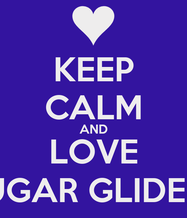 KEEP CALM AND LOVE SUGAR GLIDERS