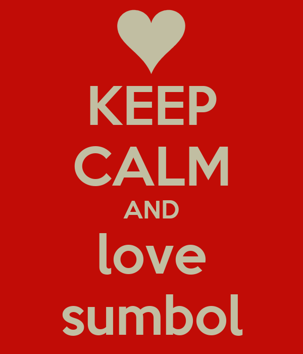 KEEP CALM AND love sumbol