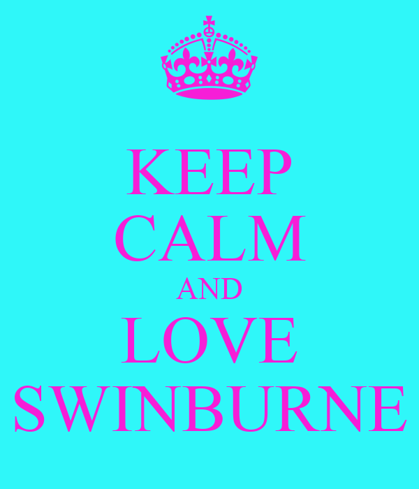 KEEP CALM AND LOVE SWINBURNE