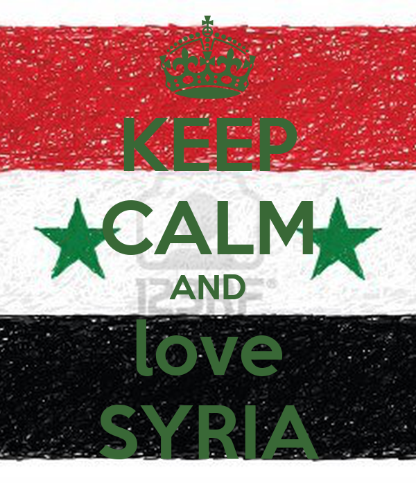 KEEP CALM AND love SYRIA