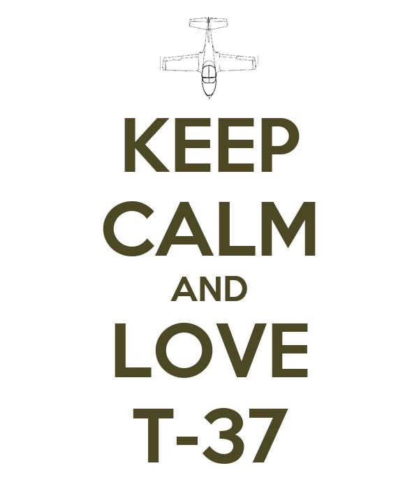 KEEP CALM AND LOVE T-37