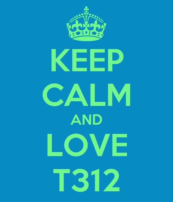 KEEP CALM AND LOVE T312