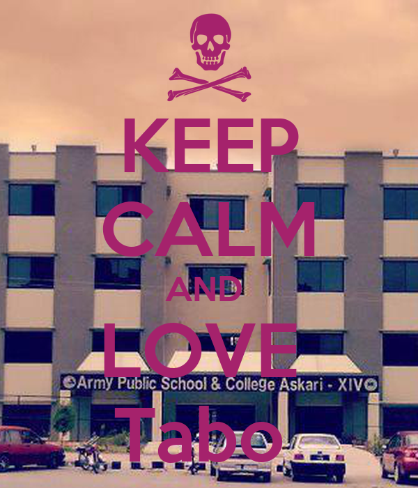 KEEP CALM AND  LOVE  Tabo