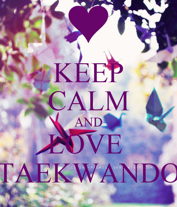 KEEP CALM AND LOVE  TAEKWANDO