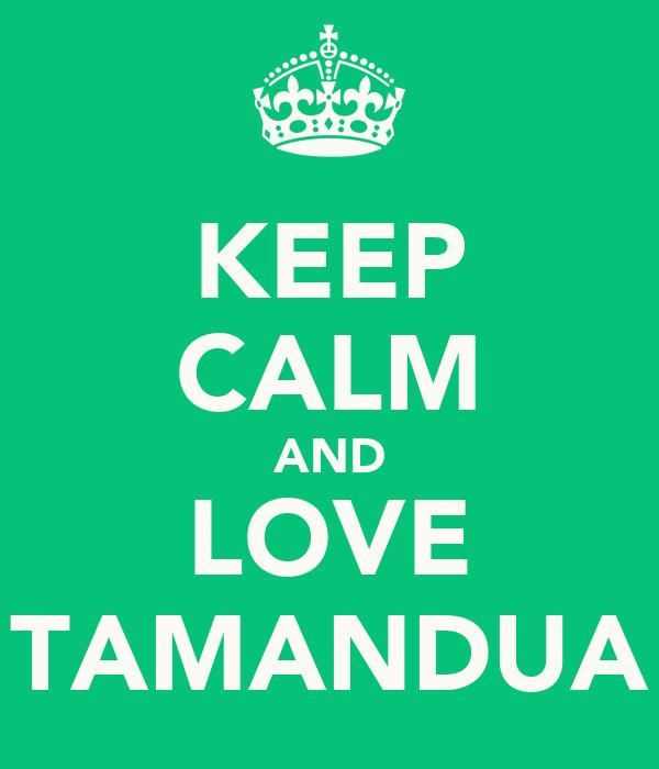 KEEP CALM AND LOVE TAMANDUA