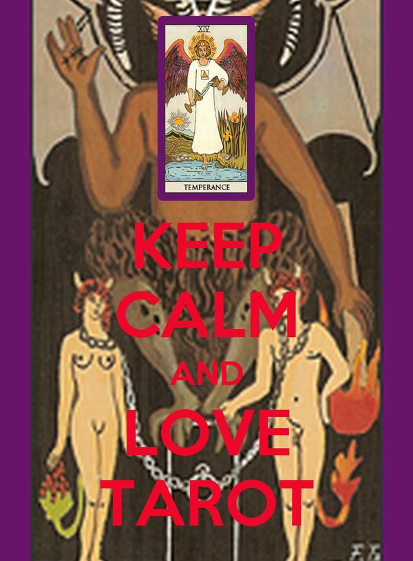 KEEP CALM AND LOVE TAROT