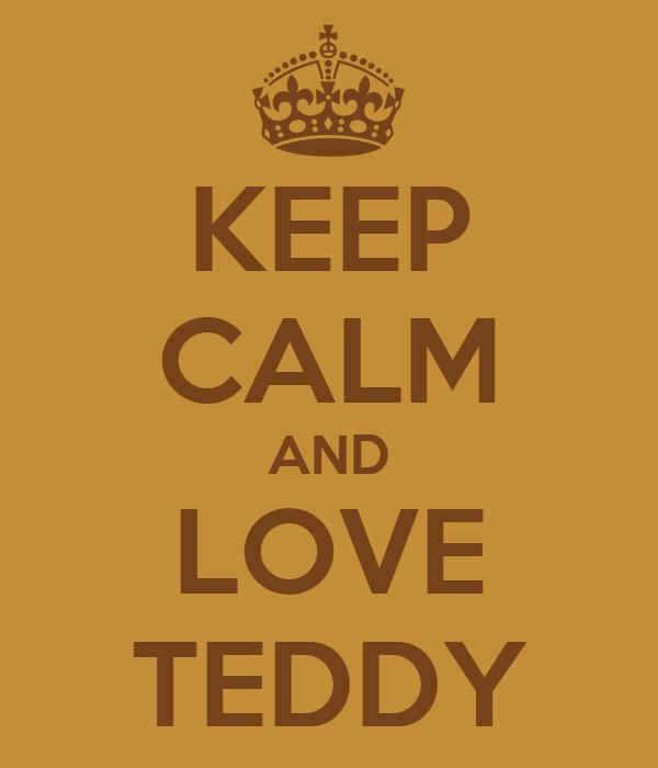 KEEP CALM AND LOVE TEDDY