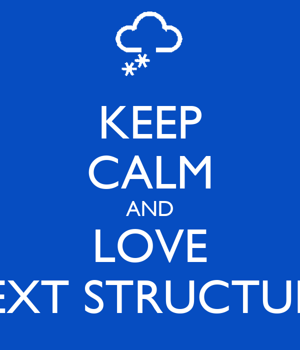 KEEP CALM AND LOVE TEXT STRUCTURE