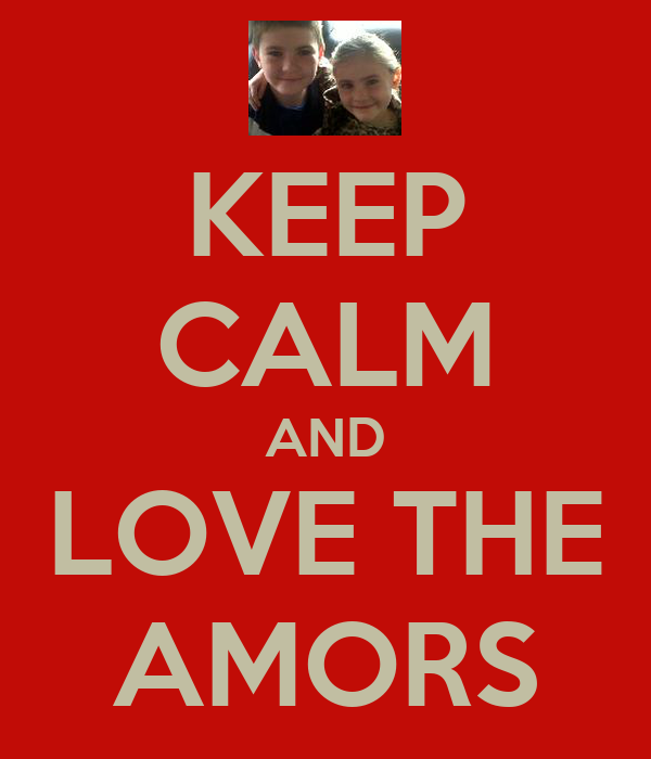 KEEP CALM AND LOVE THE AMORS