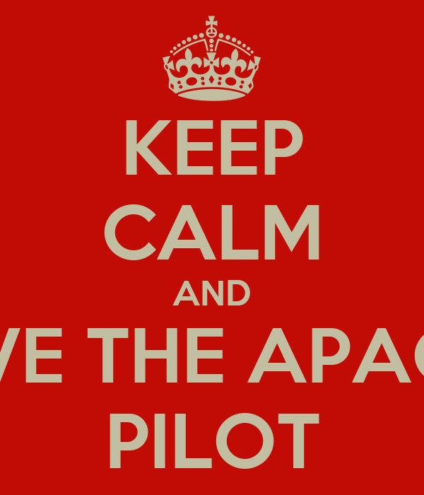 KEEP CALM AND LOVE THE APACHE PILOT