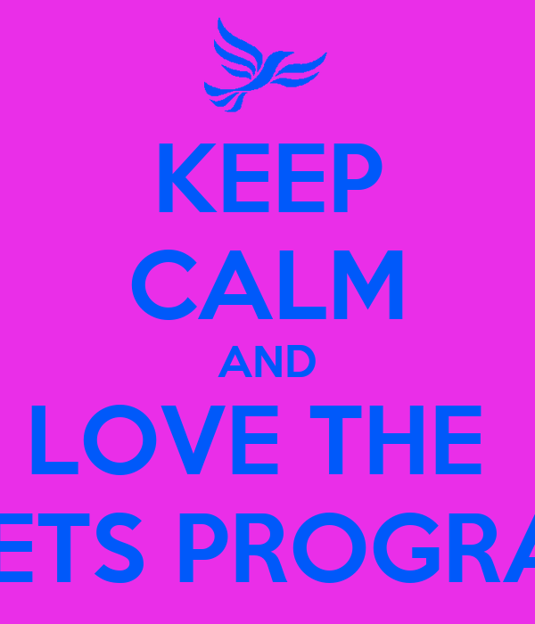 KEEP CALM AND LOVE THE  ASETS PROGRAM