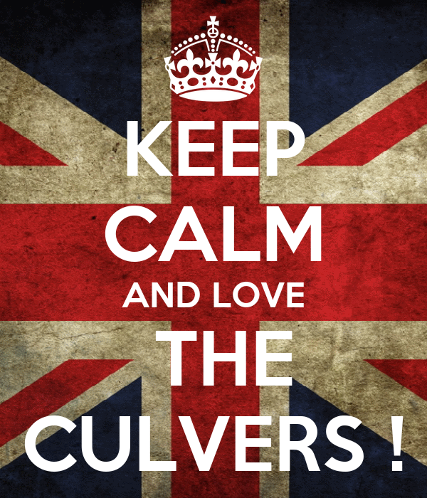 KEEP CALM AND LOVE  THE CULVERS !