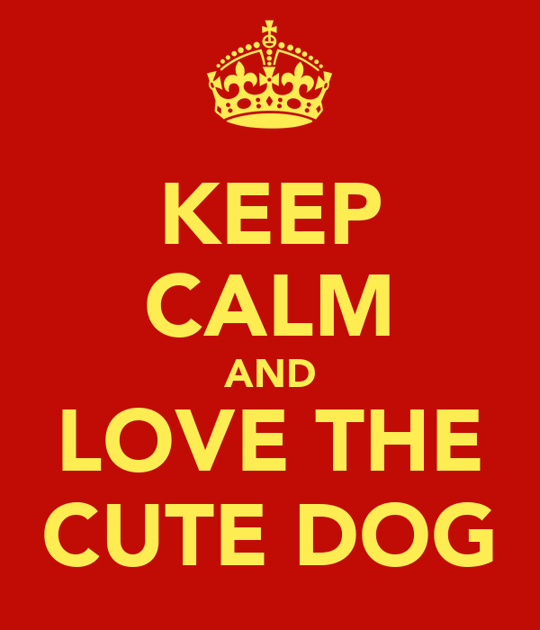 KEEP CALM AND LOVE THE CUTE DOG