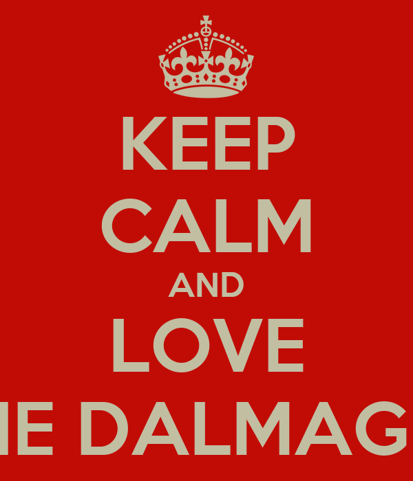 KEEP CALM AND LOVE THE DALMAGES