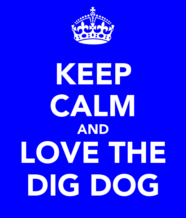 KEEP CALM AND LOVE THE DIG DOG
