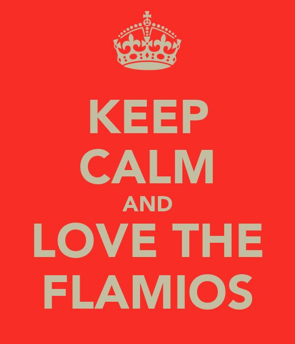KEEP CALM AND LOVE THE FLAMIOS