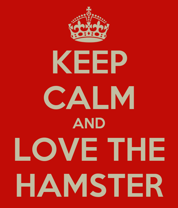 KEEP CALM AND LOVE THE HAMSTER