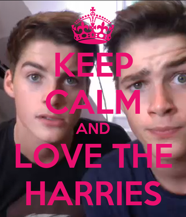 KEEP CALM AND LOVE THE HARRIES