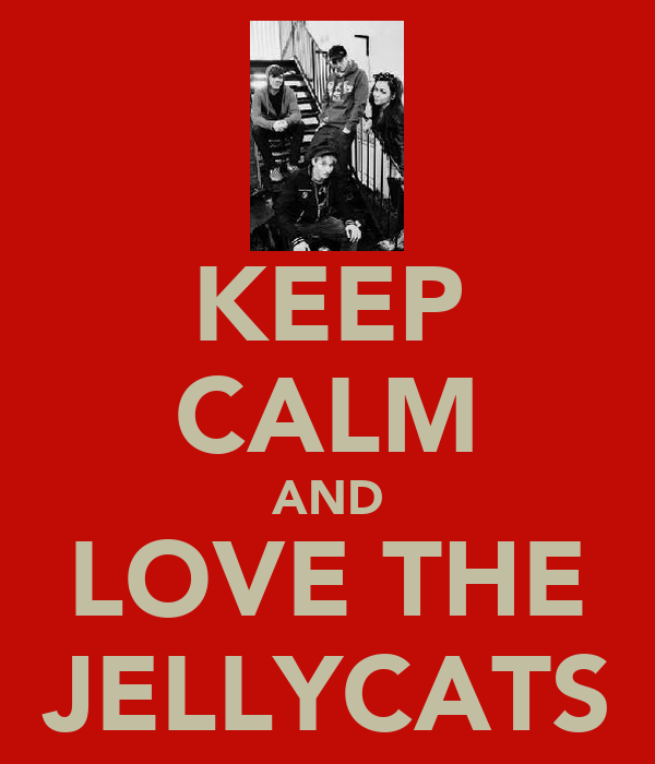 KEEP CALM AND LOVE THE JELLYCATS