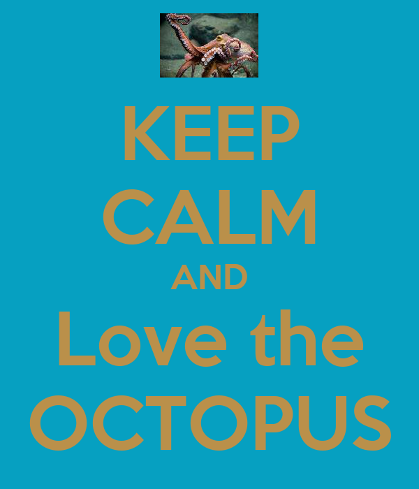 KEEP CALM AND Love the OCTOPUS