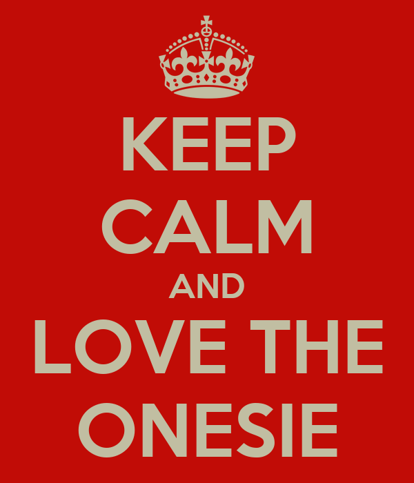KEEP CALM AND  LOVE THE  ONESIE