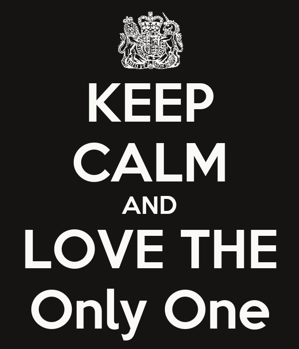 KEEP CALM AND LOVE THE Only One