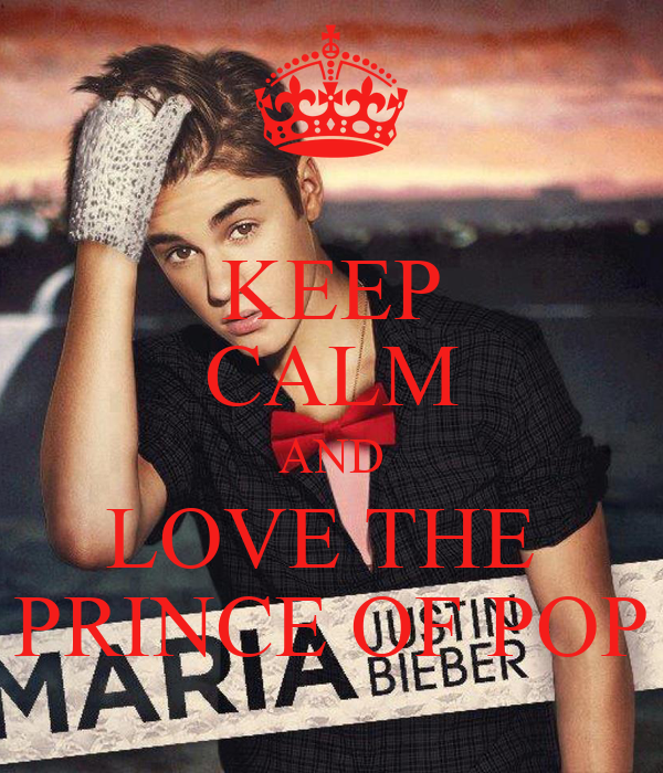 KEEP CALM AND LOVE THE  PRINCE OF POP