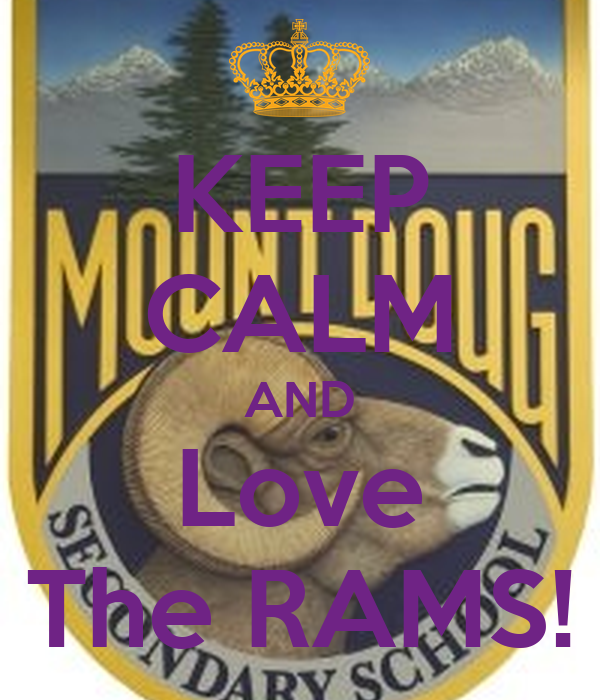 KEEP CALM AND Love The RAMS!
