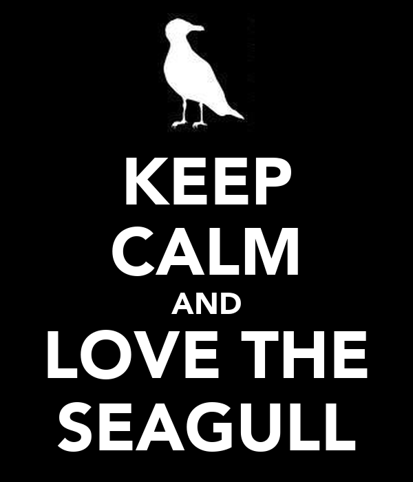 KEEP CALM AND LOVE THE SEAGULL