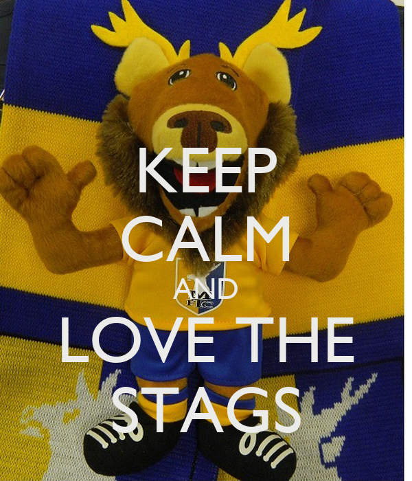 KEEP CALM AND LOVE THE STAGS
