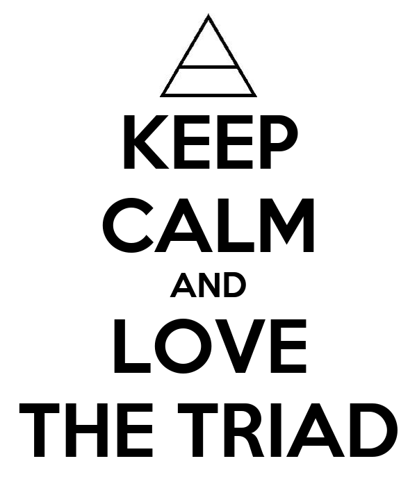 KEEP CALM AND LOVE THE TRIAD