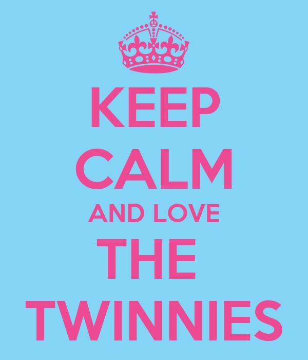 KEEP CALM AND LOVE THE  TWINNIES