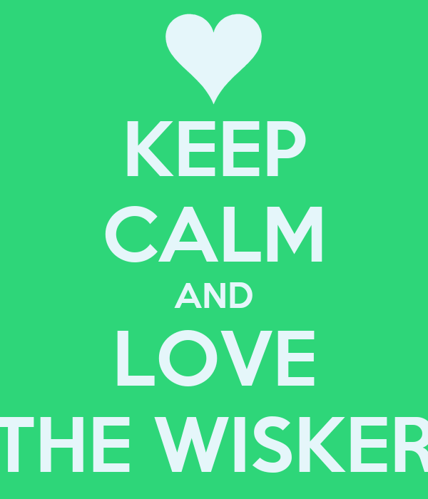 KEEP CALM AND LOVE THE WISKER