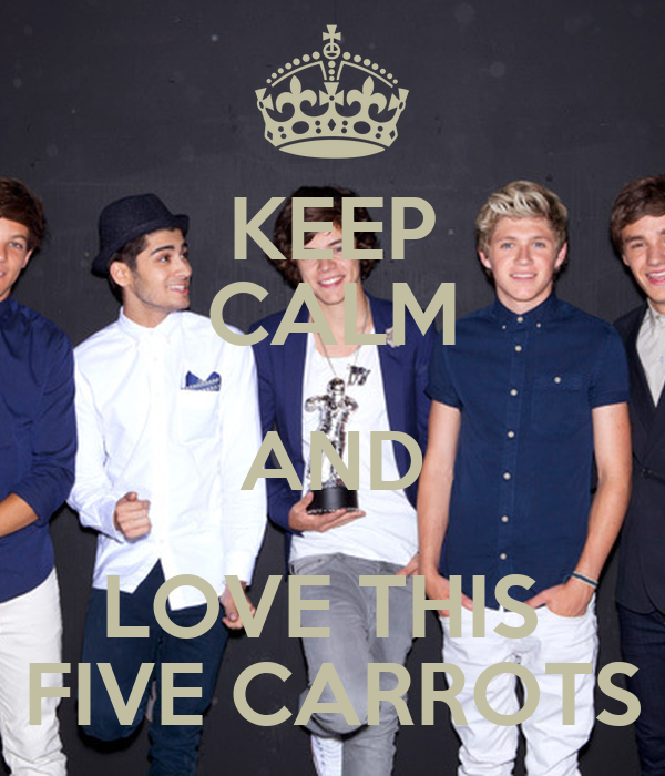 KEEP CALM AND LOVE THIS  FIVE CARROTS