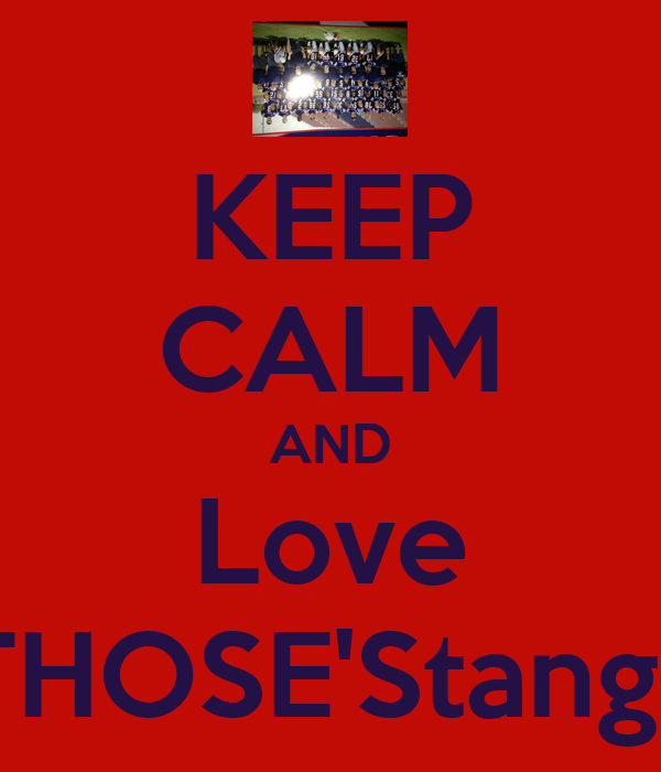 KEEP CALM AND Love THOSE'Stangs