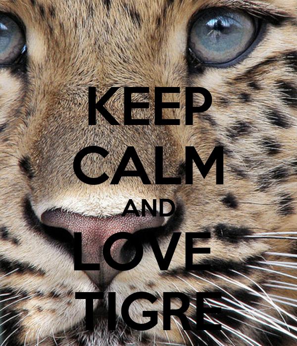 KEEP CALM AND LOVE  TIGRE