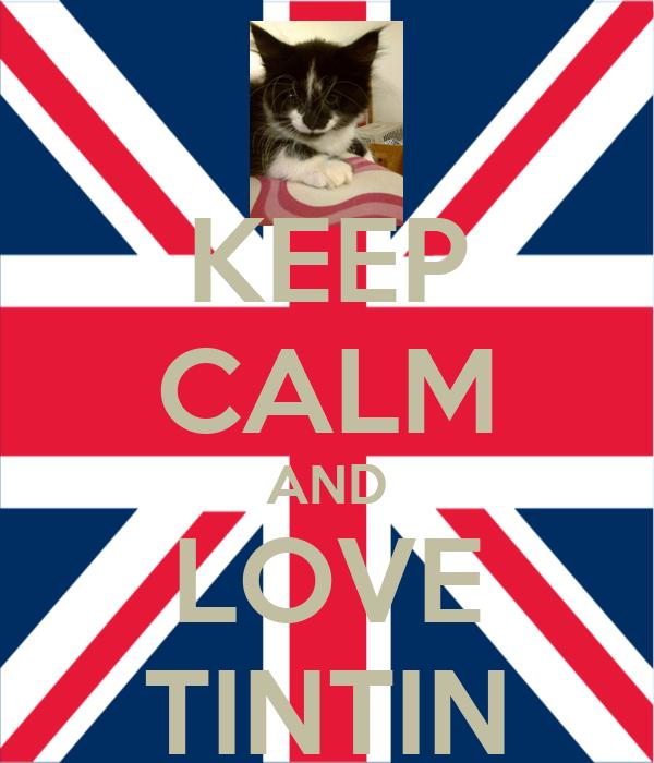 KEEP CALM AND LOVE TINTIN