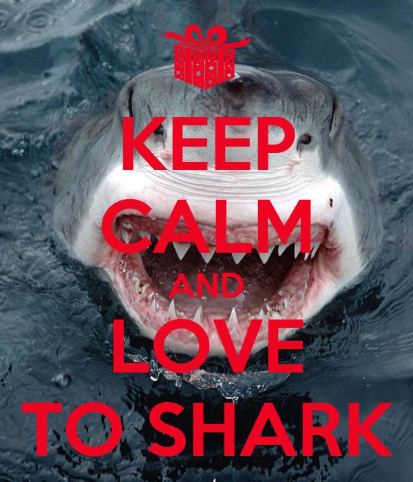 KEEP CALM AND LOVE TO SHARK