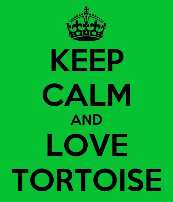 KEEP CALM AND LOVE TORTOISE