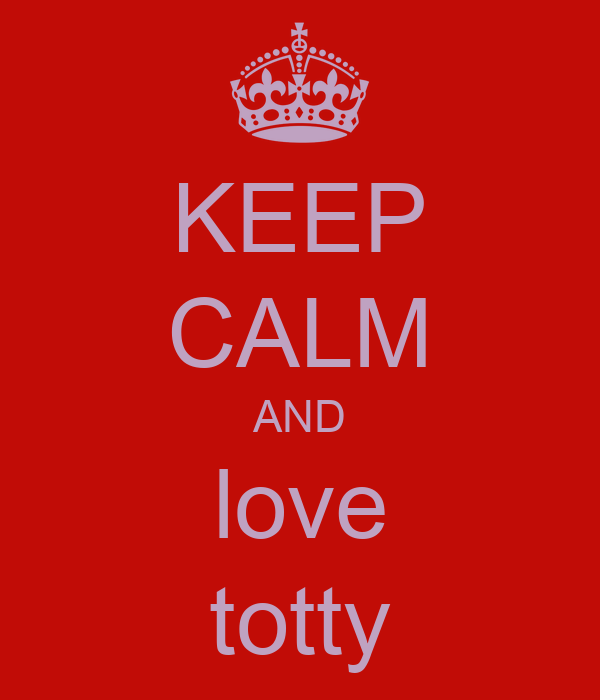 KEEP CALM AND love totty