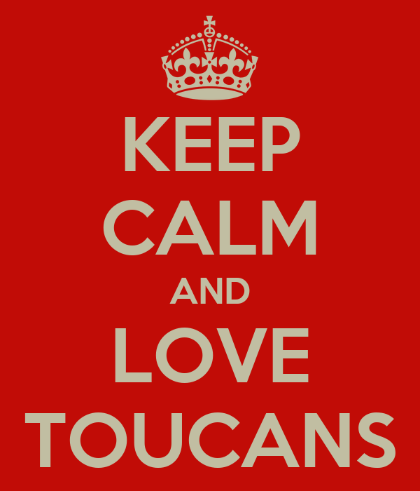KEEP CALM AND LOVE TOUCANS